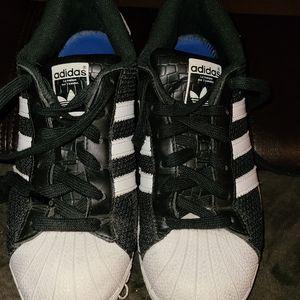 Men's Black w/ White Adidas